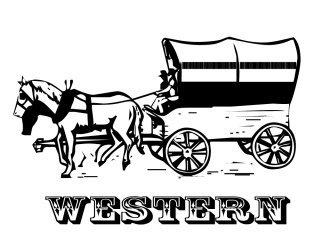 Le coloriage western