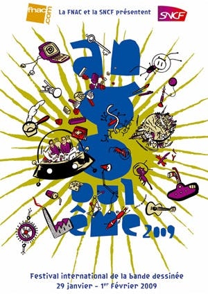 Affiche Le festival de la bande dessinée d'Angoulême