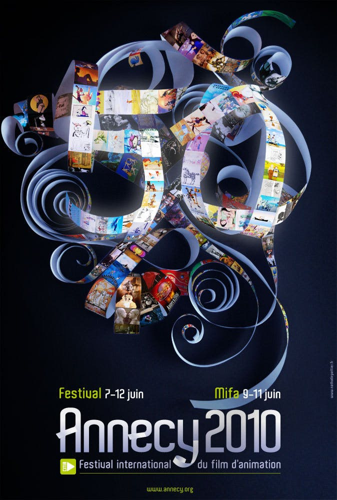Affiche Le festival international du film d'animation d'Annecy 2010