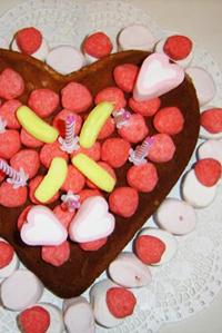 Le gâteau bonbon chocolat