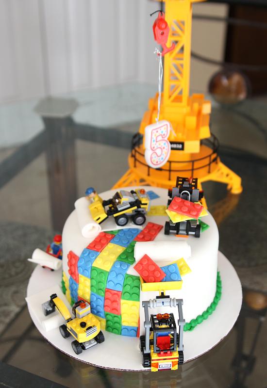 Le gâteaux Lego Bulldozer
