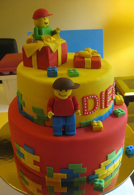 Le gâteau Lego surprise