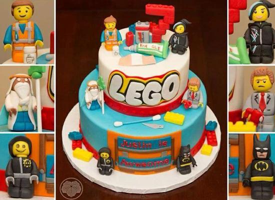 Le gâteau personnages Lego