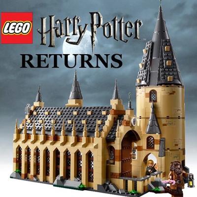 Le grand hall de Poudlard tout en Lego !