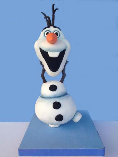 Le Gravity Cake Olaf
