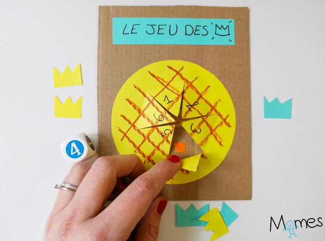 Le jeu de la galette des rois en papier - Couronne epiphanie maternelle ...