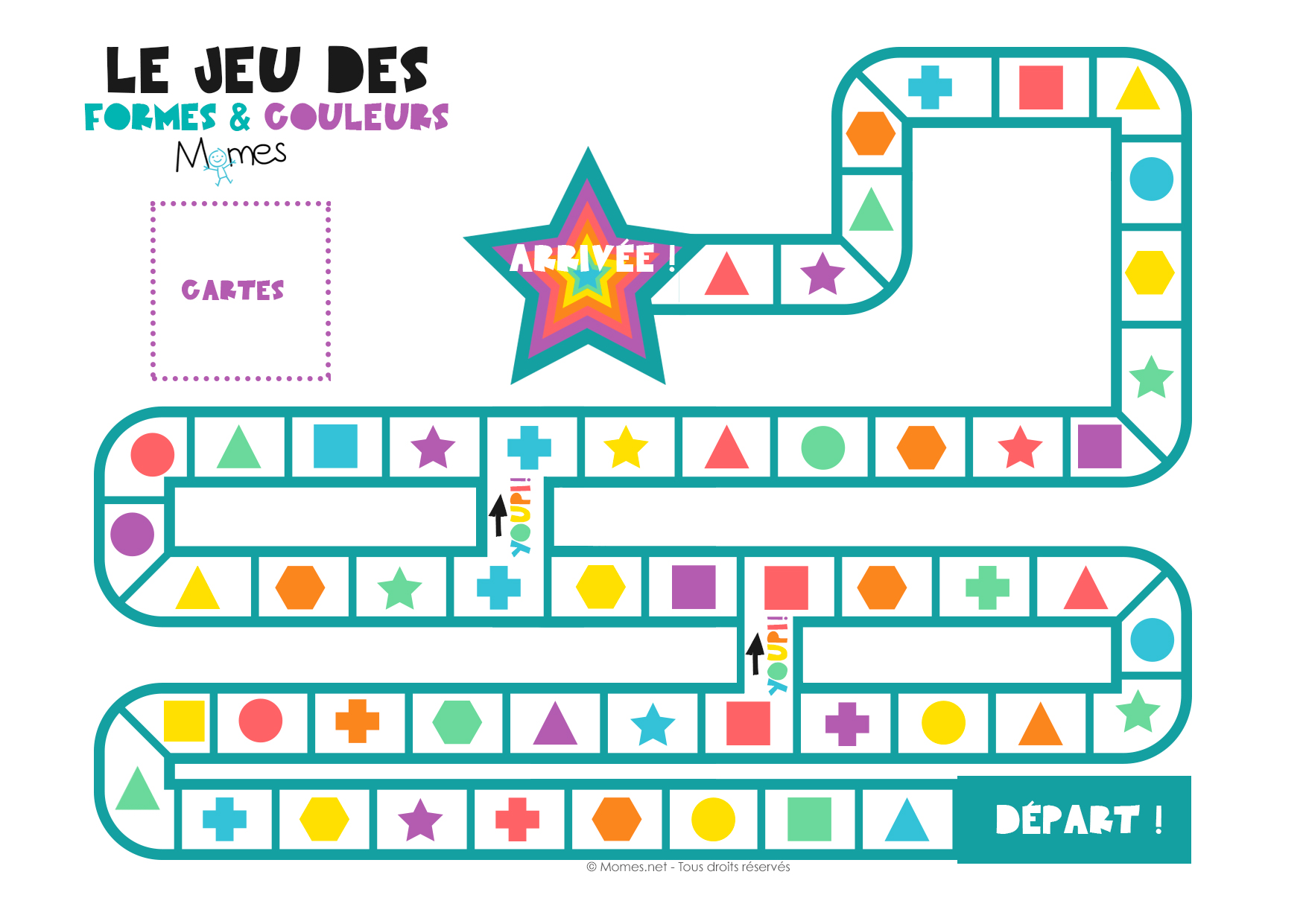 le jeu des formes et des couleurs. Black Bedroom Furniture Sets. Home Design Ideas