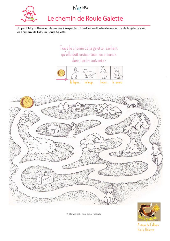 Le labyrinthe de la galette - Image roule galette imprimer ...