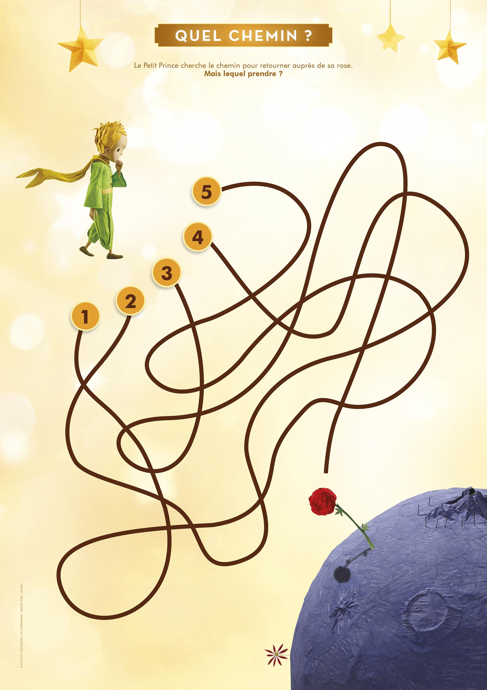 Le labyrinthe du Petit Prince et sa Rose