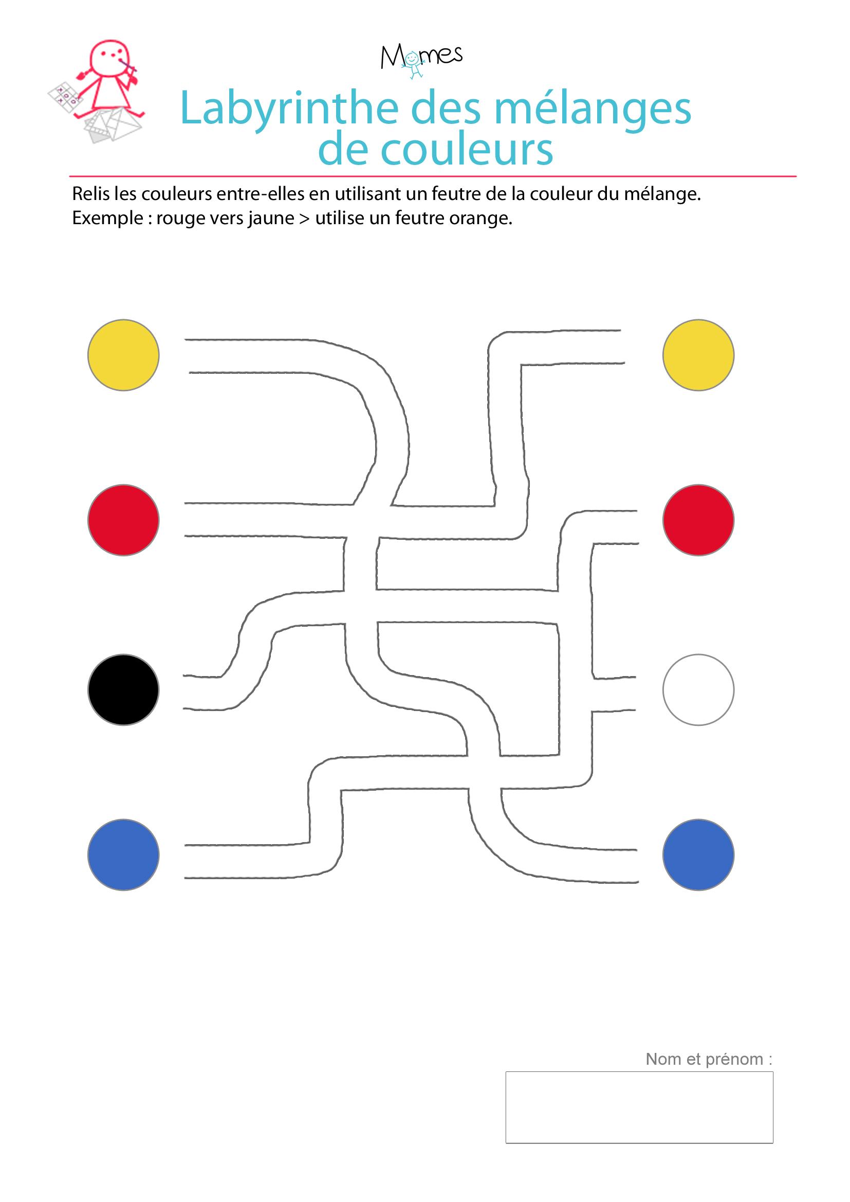 Le labyrinthes des couleurs