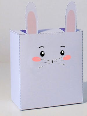 paper toy lapin