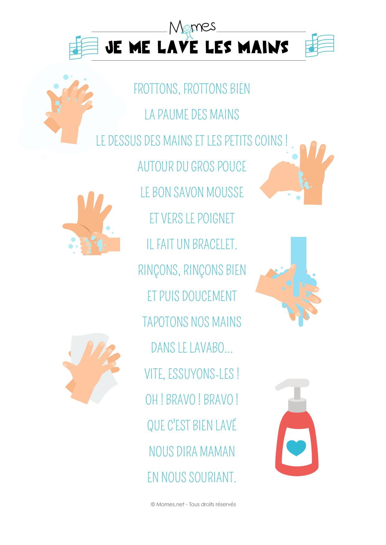 comptine lavage des mains