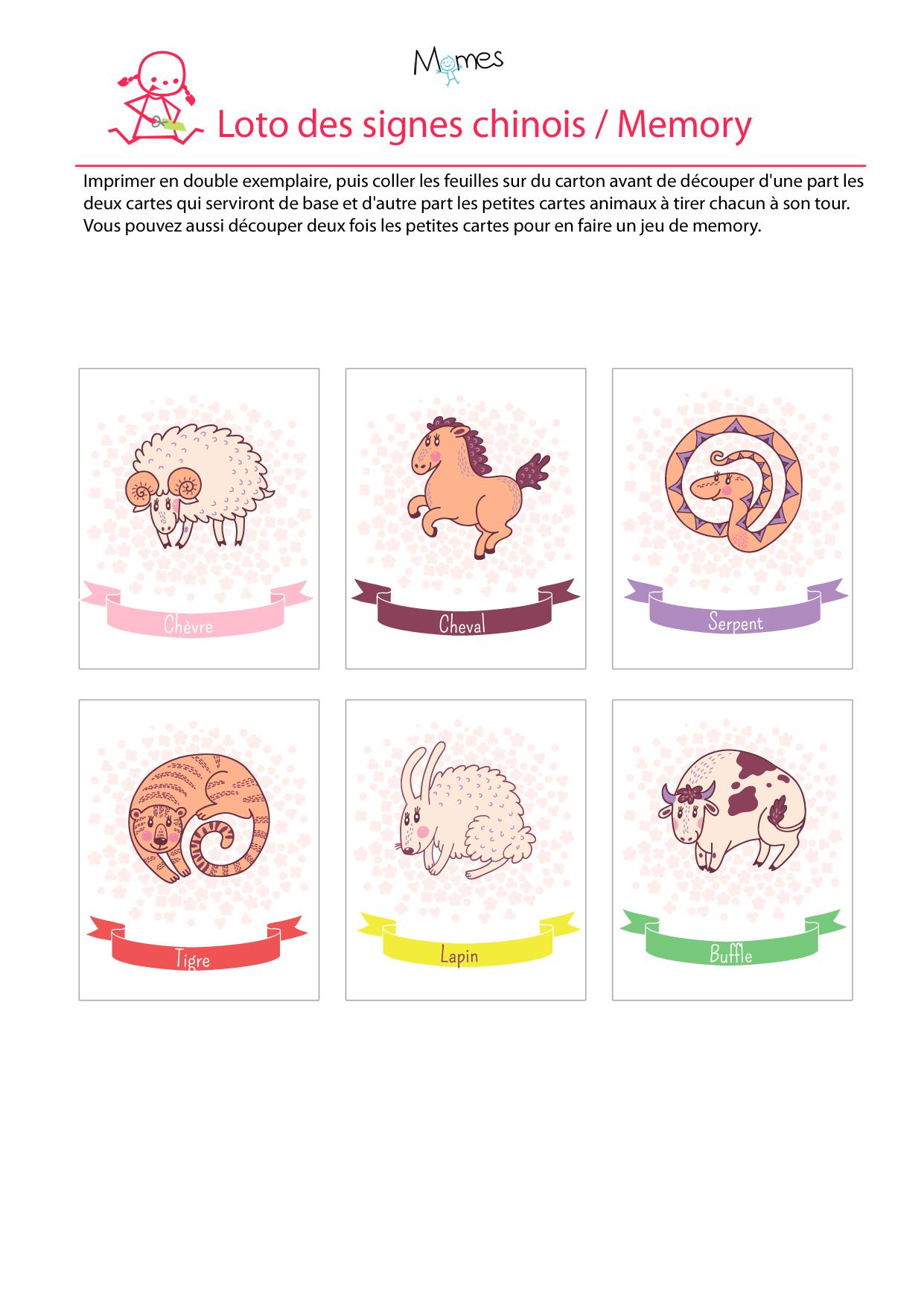Le loto du Zodiaque chinois