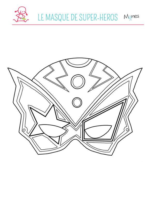 Le masque de super h ros colorier - Comment dessiner un super heros fille ...
