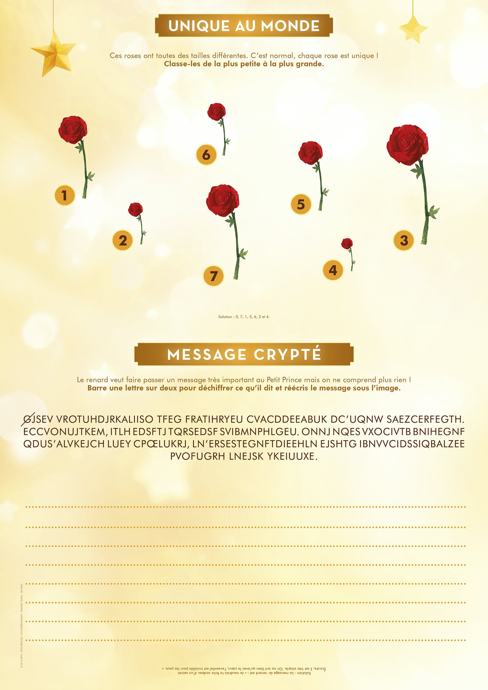 Le message crypté du Petit Prince