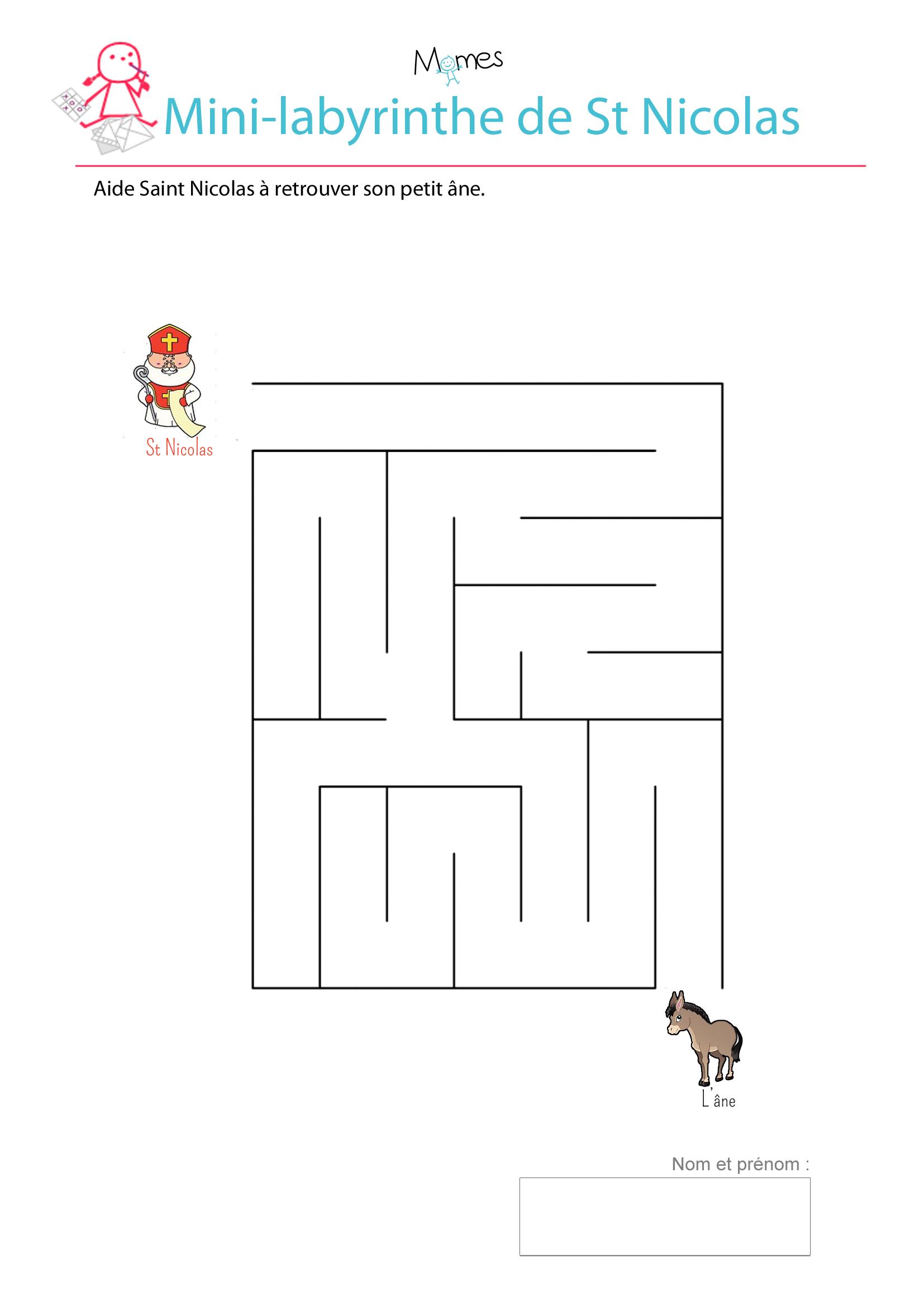 Le mini-labyrinthe de St Nicolas