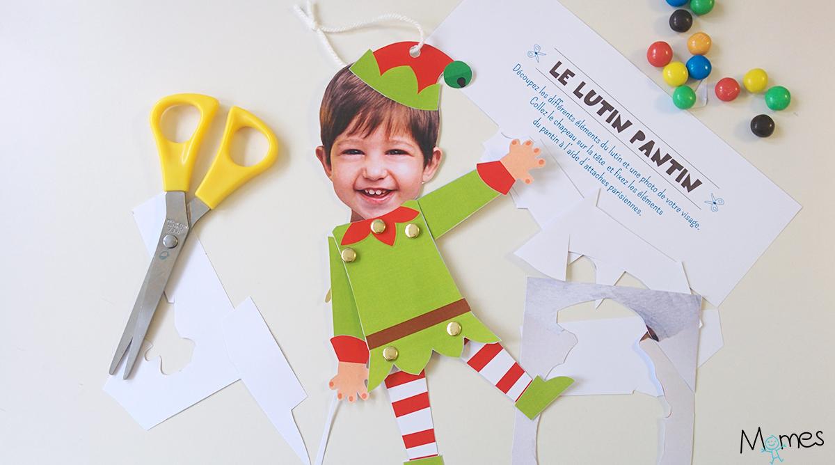 Le Pantin Lutin De Noel A Imprimer Et Personnaliser Momes Net