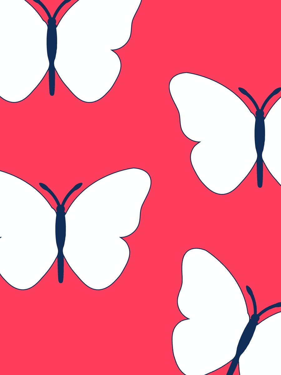 Le papillon des rêves bleus