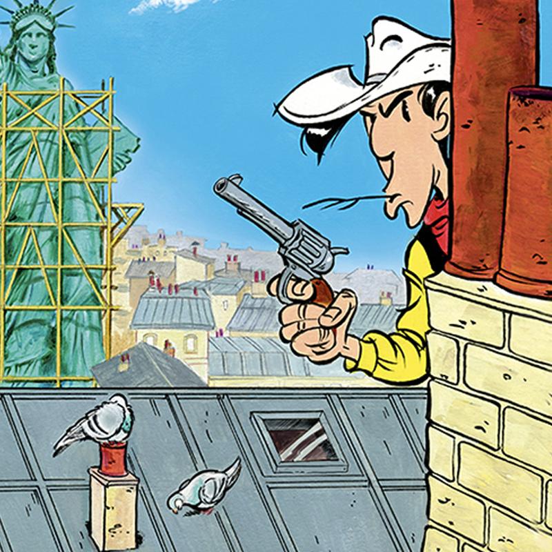 prochain Lucky Luke célèbre cowboy à Paris BD
