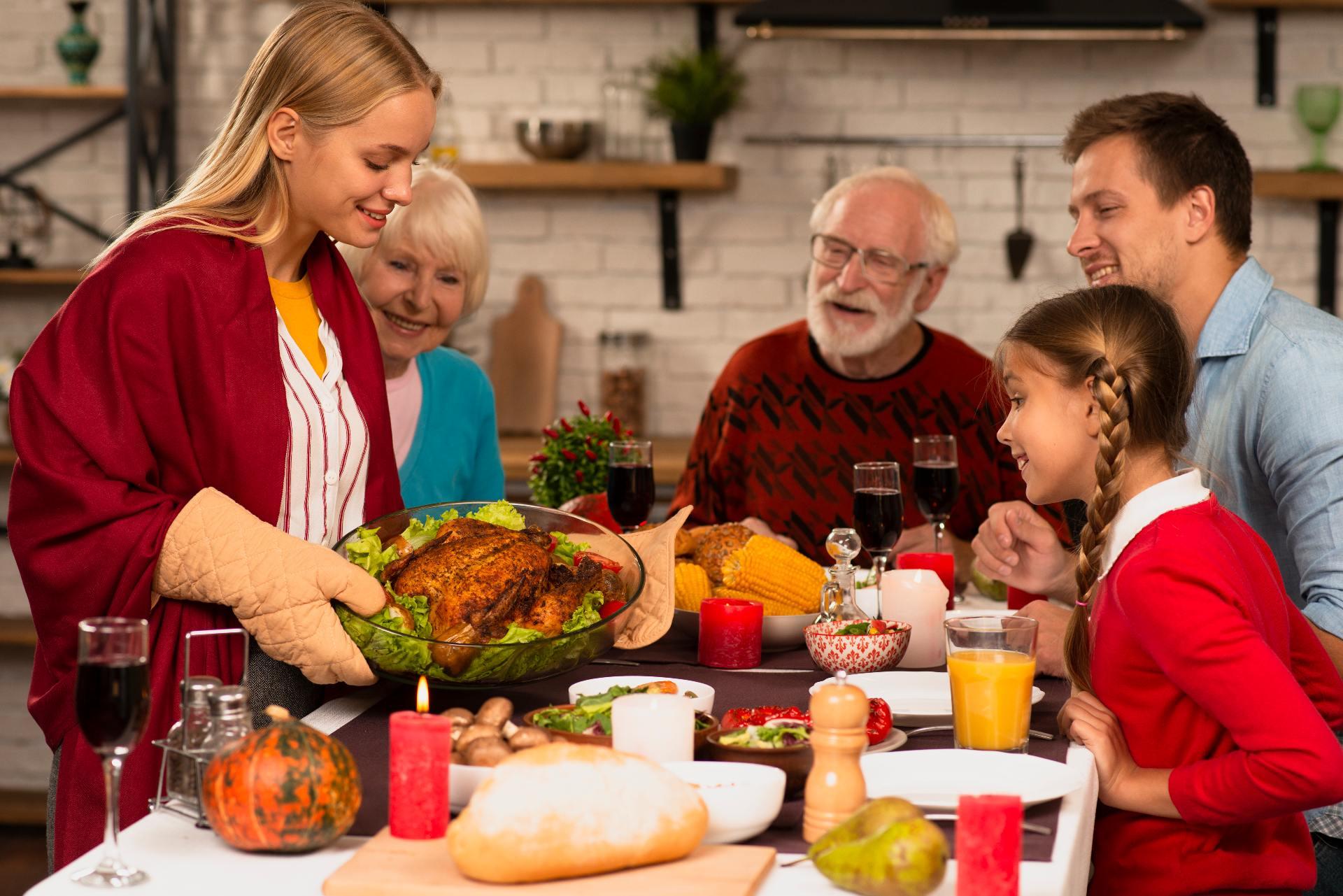 le repas traditionnel de Thanksgiving