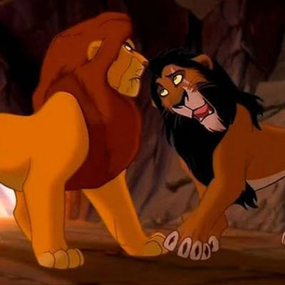 Disney le roi lion Mufasa Scar pas frères