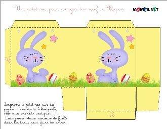 Le sac de Pâques en papier