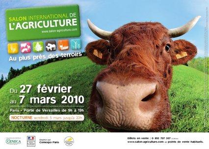 Affiche Le salon de l'agriculture