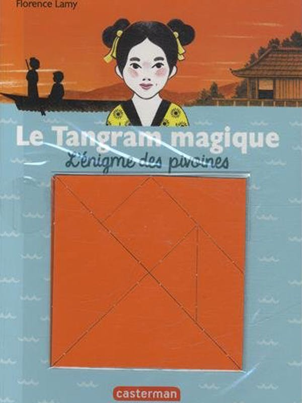 le tangram magique, l'énigme des pivoines