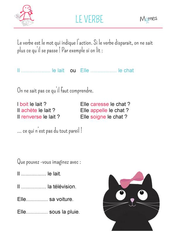 Le verbe - exercice 1