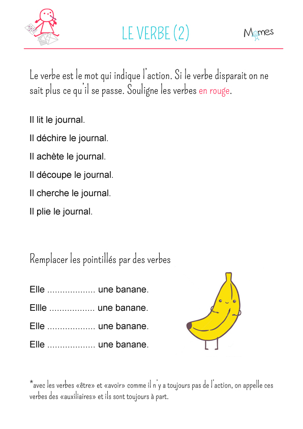Le verbe - exercice 2