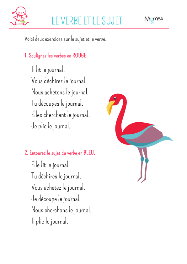 Le verbe - exercice 3
