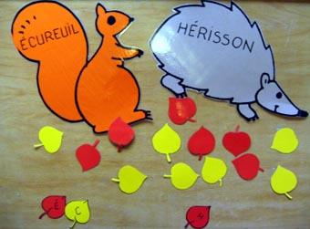 Lecture en jeu : L'écureuil et le hérisson