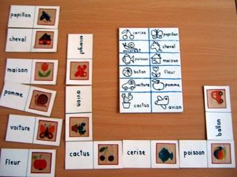 Lecture en jeu le domino des mots - Coloriage domino ...