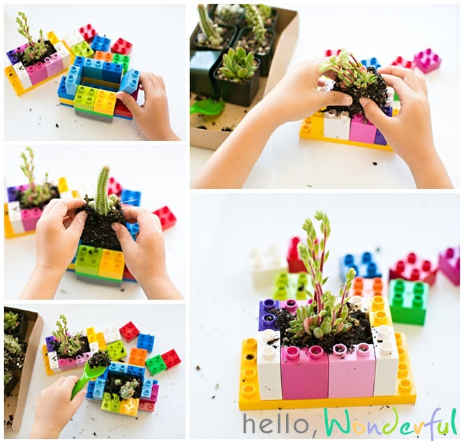 pot fleur en lego