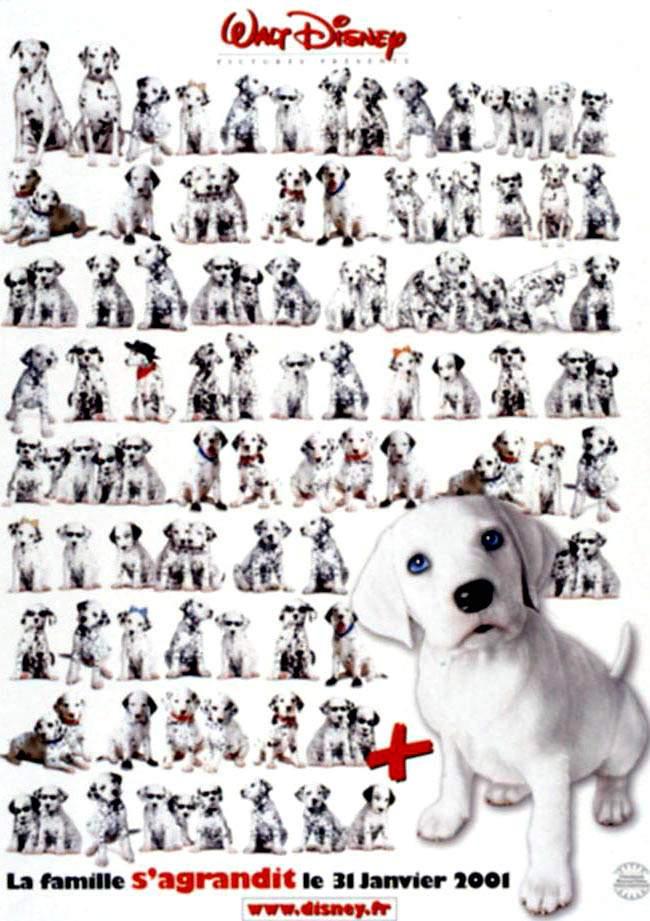 Affiche Les 102 Dalmatiens