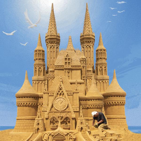 Les 150 incroyables sculptures de sable d'Ostende en Belgique