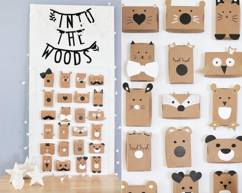 calendriers de l'avent fait maison animaux bois