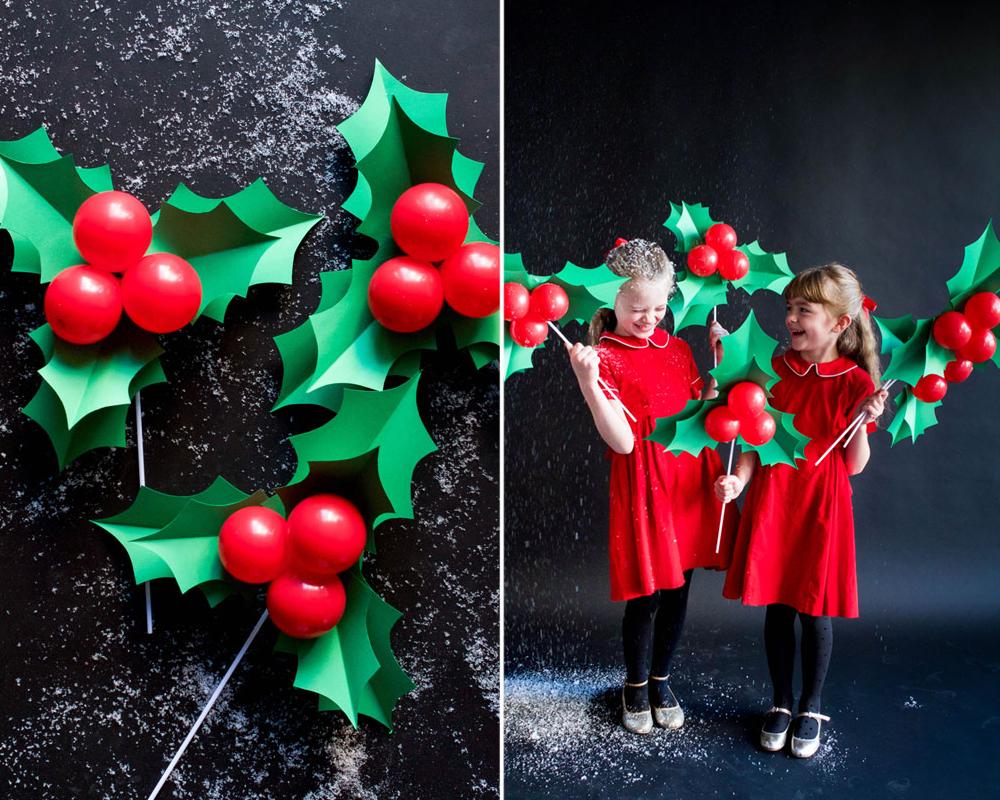 idées décorations Noël rapides simples faciles dernière minute ballon houx