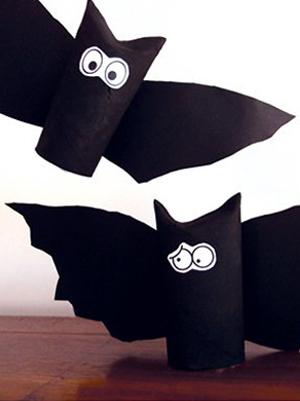 Les chauves-souris en carton pour Halloween
