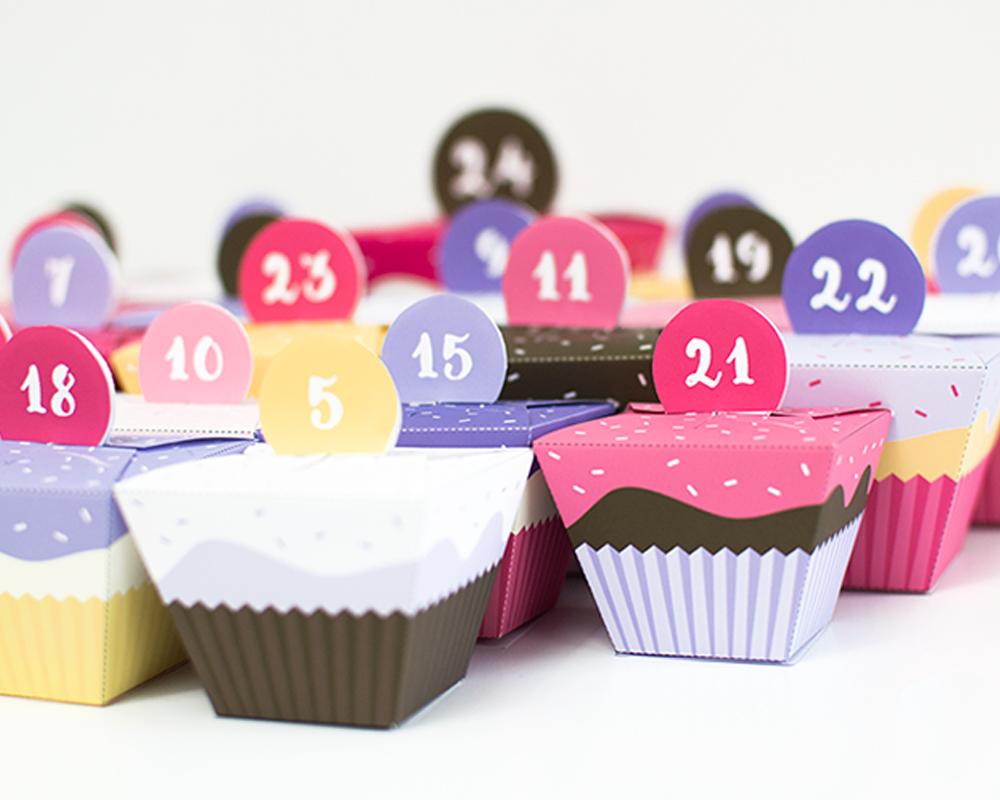 calendriers de l'avent fait maison calendrier cupcakes Avent