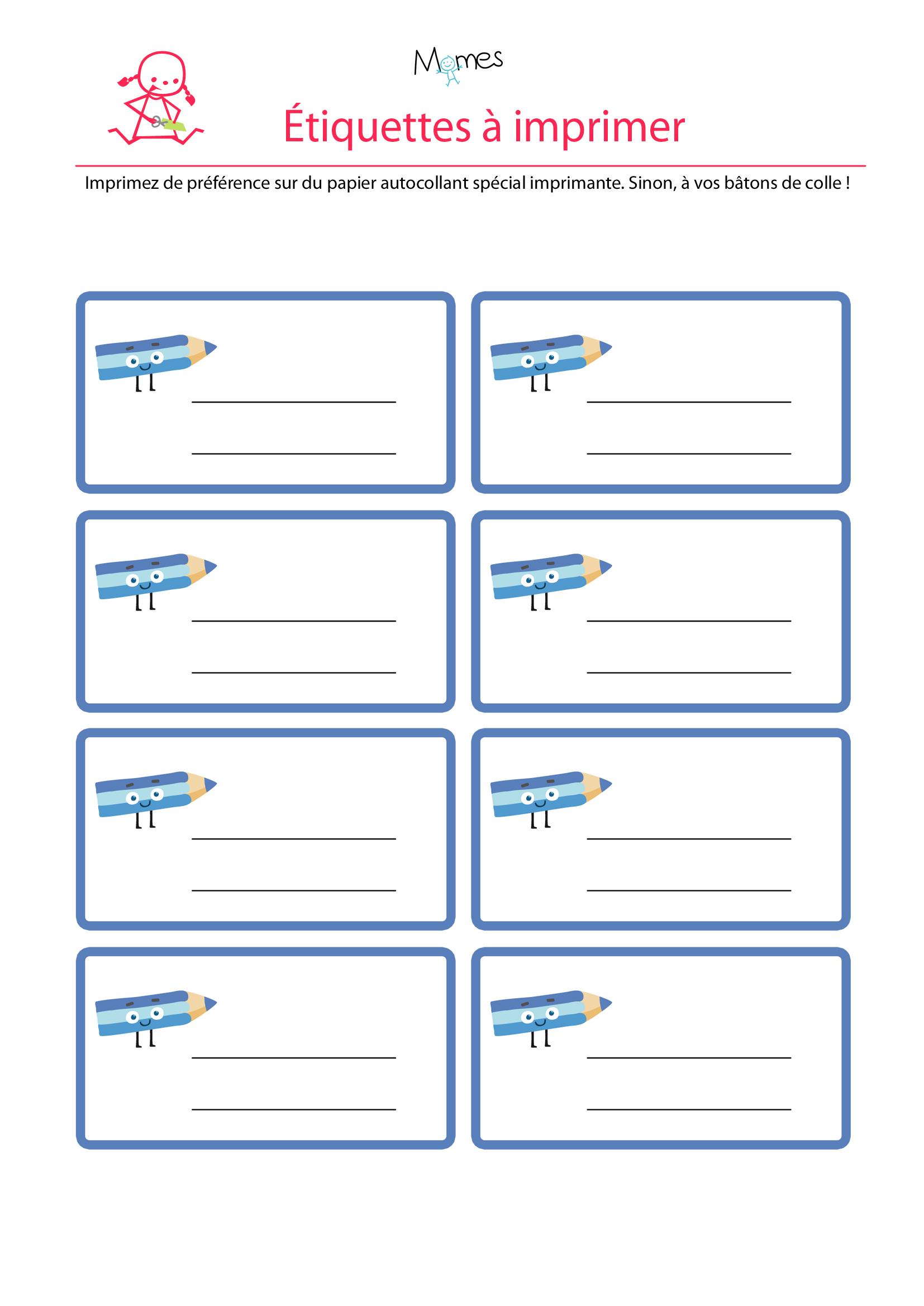 Les étiquettes à imprimer bleues