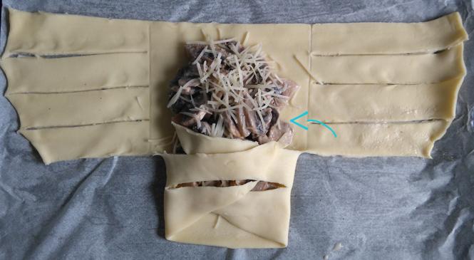 Les feuilletés aux champignons