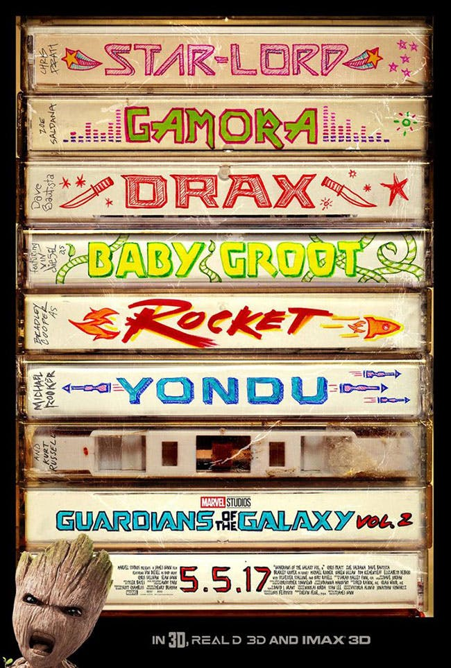 Les gardiens de la galaxy 2 - Affiche