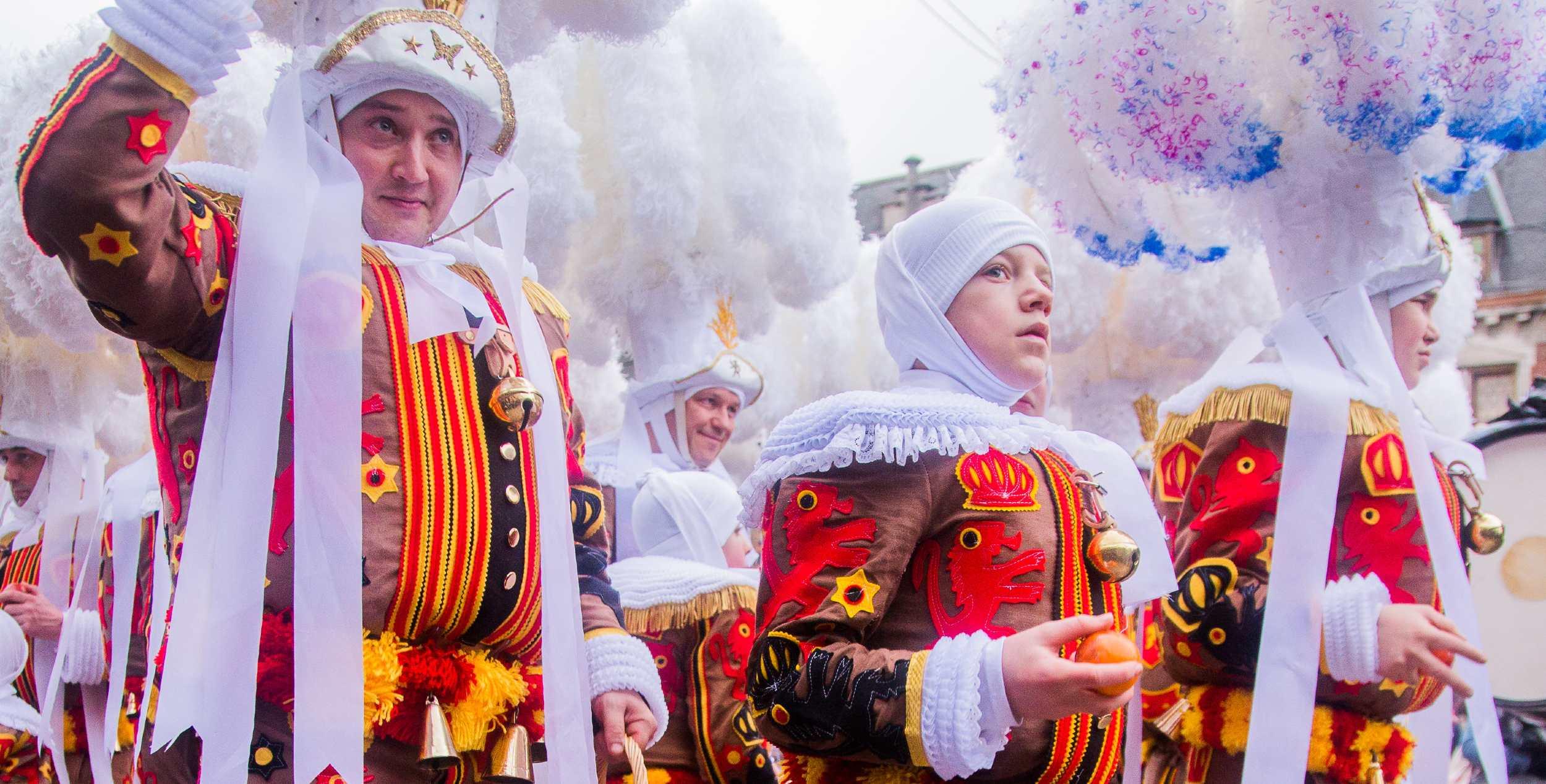 Les Gilles du carnaval de Binche