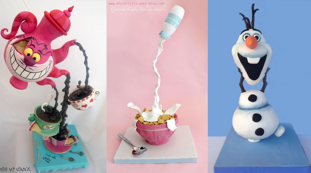 Les Gravity Cakes : ces gâteaux renversants !