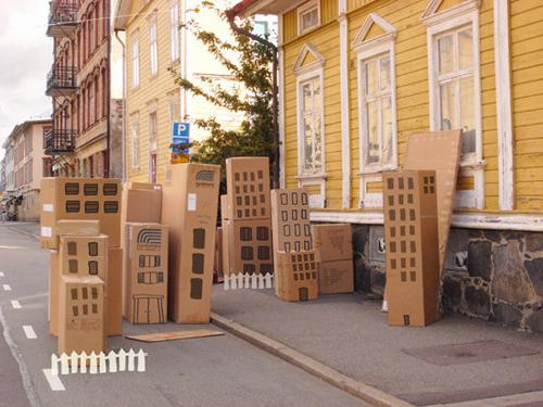 Les immeubles en carton