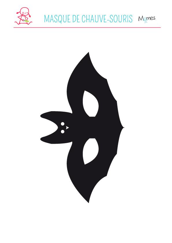 Les masques du Carnaval: le masque de chauve-souris à imprimer