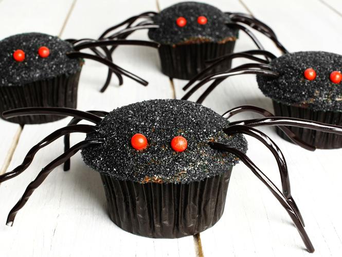 Les muffins araignées au chocolat