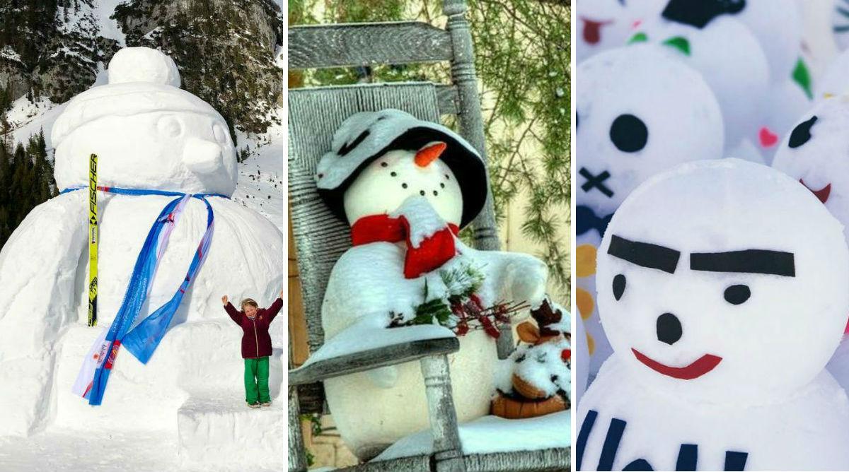 Les plus beaux bonhommes de neige