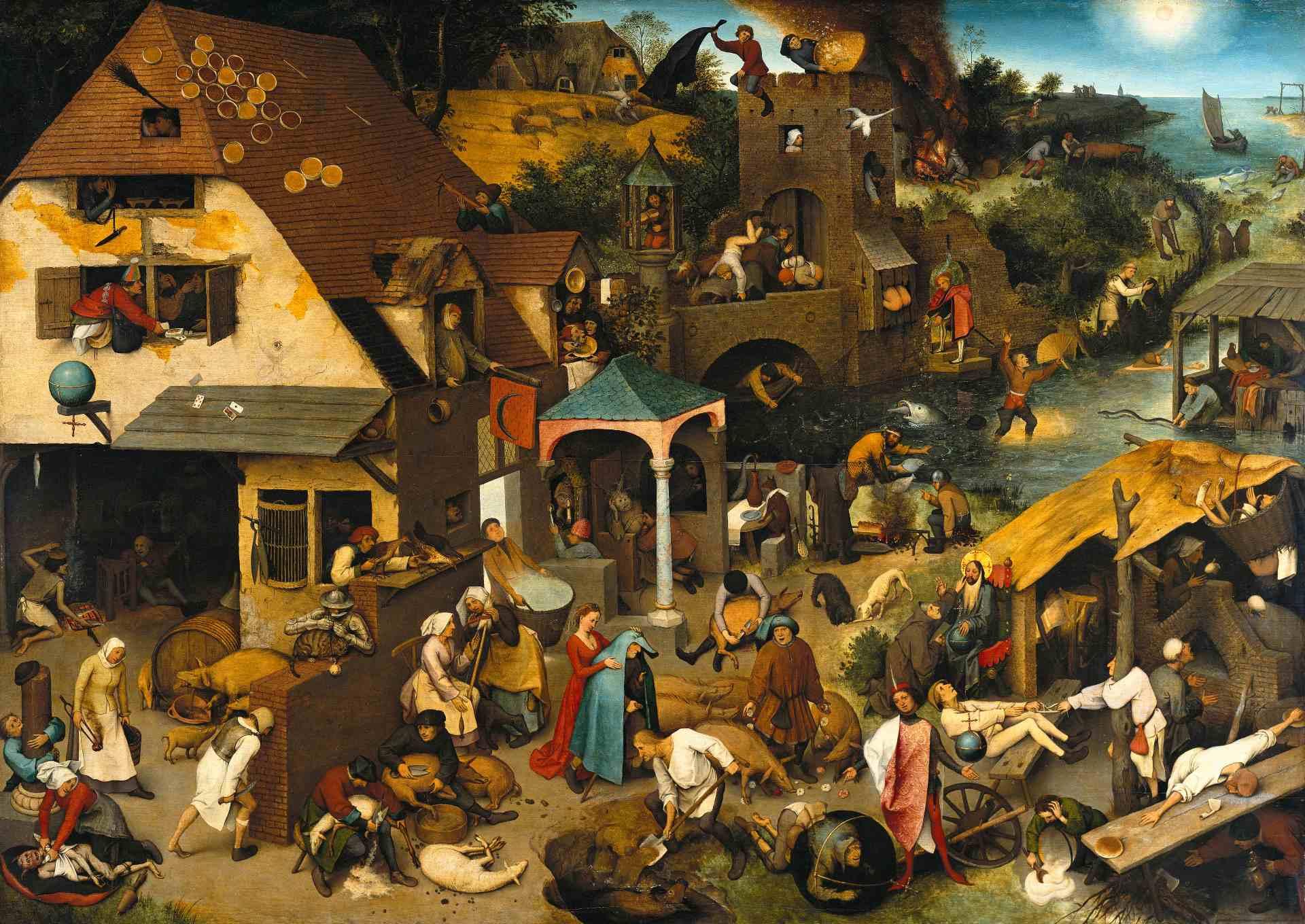 Les proverbes flamands de Pieter Brueghel l'Ancien